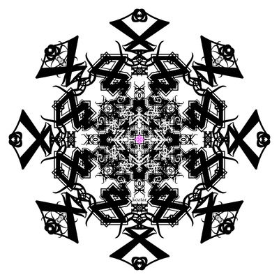 BLACK WHITE PINK caleidoscope koztar Art Print by KoZtar | Society6 via PinCG.com