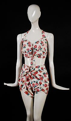 BEST EVER CHEESECAKE SWEET 1940'S 2 PC BATHING SUIT BIKINI BY CATALINA