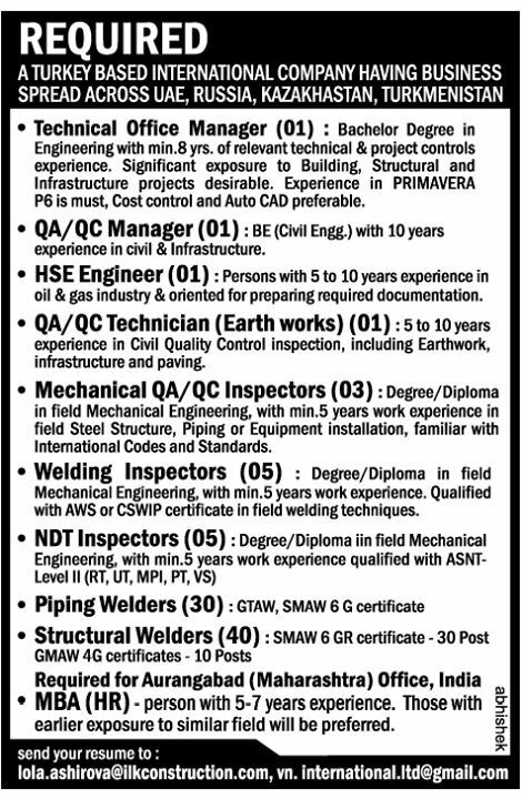 Pin This Vacancy of NDT INSPECTOR JOB VACANCY IN MIDDLE EAST - ndt resume format