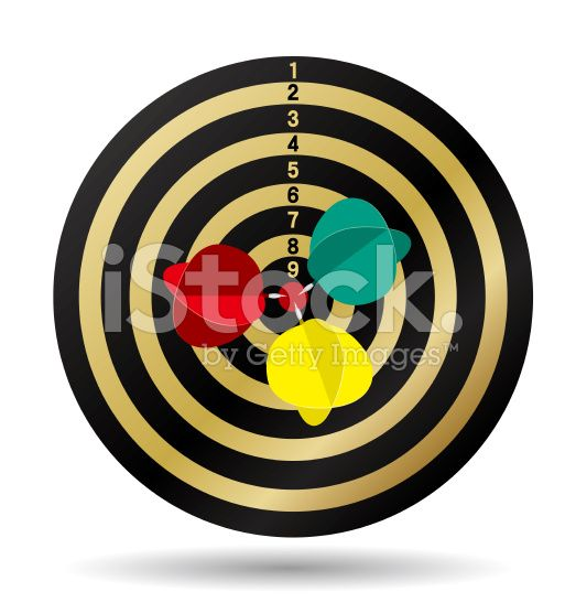 Hitting target royalty-free stock vector art