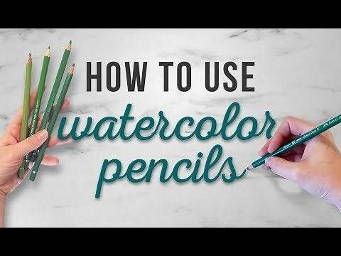 How To Use Watercolor Pencils Shading Techniques For Beginners