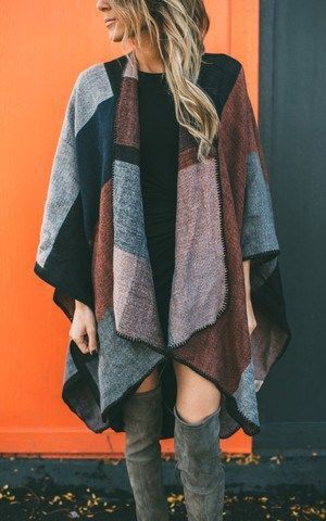 The perfect poncho for fall: