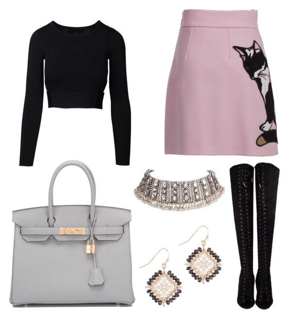 """Untitled #415"" by m-svarstad ❤ liked on Polyvore featuring Hermès and MSGM"