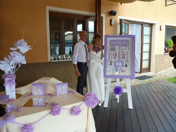 the lucky ones with their wedding story board