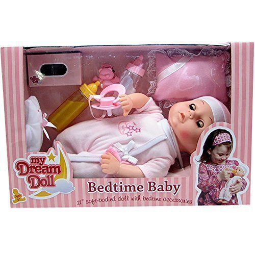 My Dream Doll Bedtime Baby 11 Inch Soft Bodied Doll With Bedtime Accessories Your Dream Toys Baby Bedtime Dream Doll Baby Alive Dolls