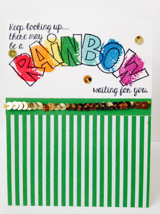 "Stampin' in the Sun!: Encouragement with Rainbows with ""Over the Rainbow"""