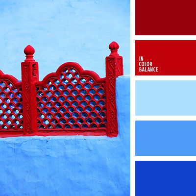 Contrast Greece Colors Red And Blue Color Palettes That