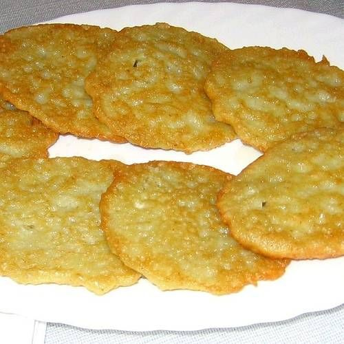 Polish Potato Pancakes 6 medium peeled and finely grated potatoes 1 ...