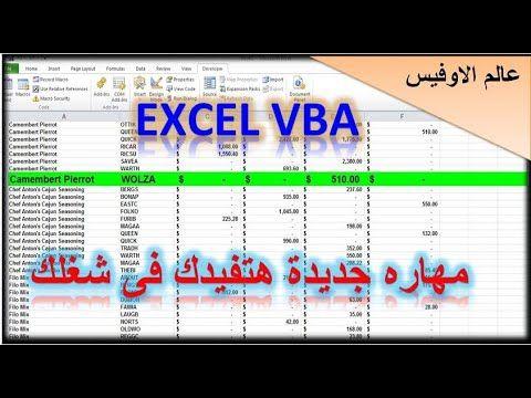 اكسل Vba مهاراة جديدة هتفيدك فى شغلك التعامل مع التقارير الكبيرة اظهار Periodic Table Diagram Excel
