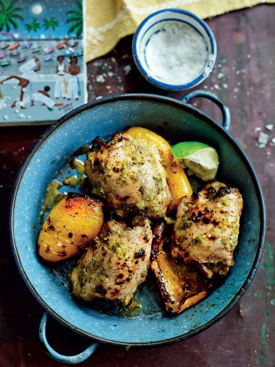 Zingy lime and garlic chicken