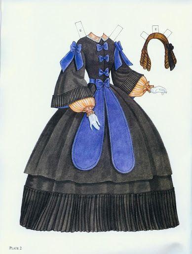 Godey's Fashion Paper Dolls 1860-1879 (Ming-Ju Sun) – Nena bonecas de papel – Webová alba Picasa