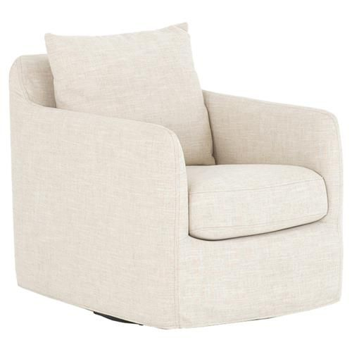Aimee Modern Classic Ivory Upholstered Swivel Arm Chair In 2020 Living Room Chairs Modern Classic Swivel Armchair