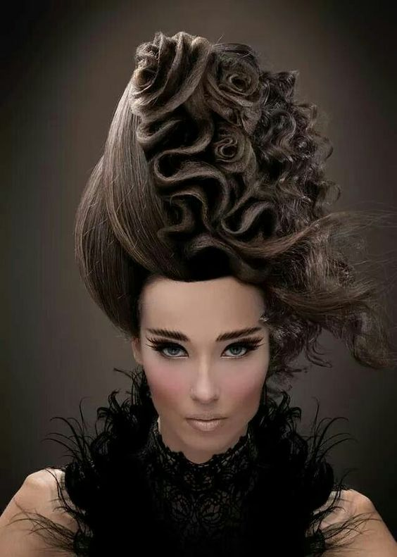 Avant Garde Hairstyle ~ Great For A Pop Video!