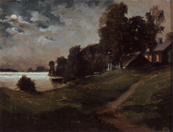 Villa at Haikko in the Moonlight / Haikon Huvila Kuutamossa (1880)