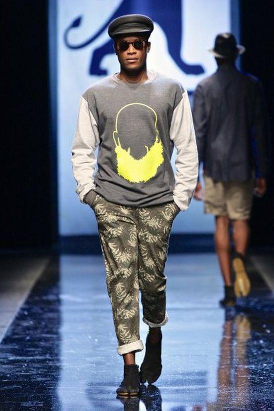 one of our favourite SA streetwear designers @MercedesBenz Fashion Week Africa is @CRAIGNATIVE  Photos courtesy Simon Deiner/SDR Photo