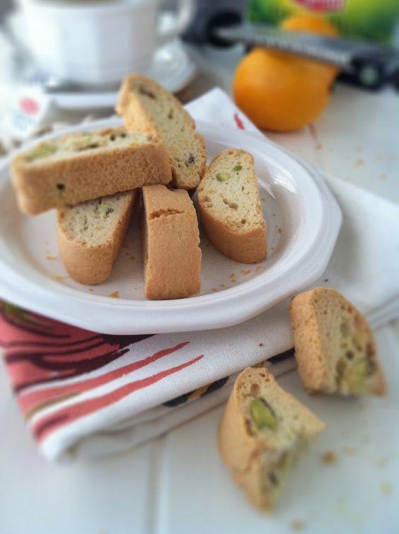 Pistachio & Meyer  Lemon Biscotti