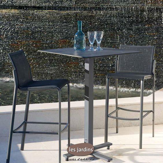 Table collection bistro pied mange debout et plateau hpl for Mange debout et tabouret de bar