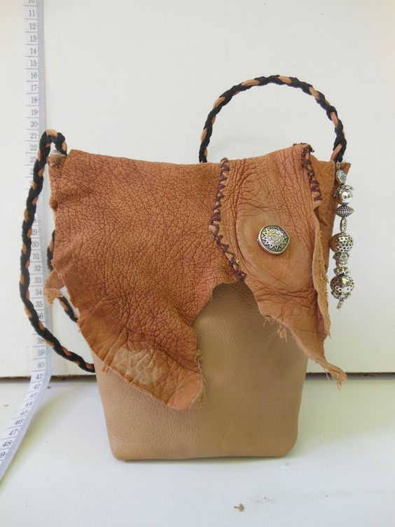 Handgemaakte Tas Leer : Festival tasje van leer janet handgemaakte tassen op fb