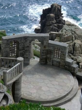 Minack theatre in Cornwall. We loved this place. We watched a play there one night and it was magical when the sunset over the ocean in the background and there were all these twinkly lights from the fishing boats.
