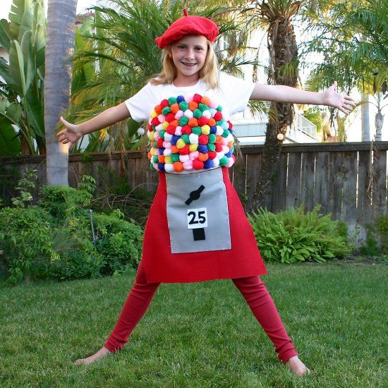 This cute gumball machine is an easy, no-sew DIY Halloween costume ...