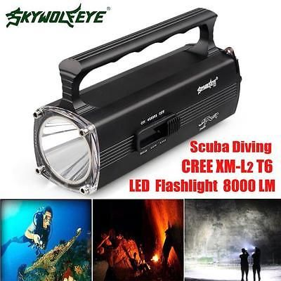 8000LM CREE XM-L2 T6 LED Flashlight Scuba Diving Underwater 100M Torch Bright https://t.co/vl5afInotP https://t.co/ChpVqtFQG8