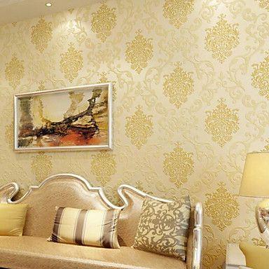 novo arco-íris ™ wallpaper clássico art deco da folha de ouro papel de parede revestimento de parede arte não-tecido papel de parede – BRL R$ 124,97