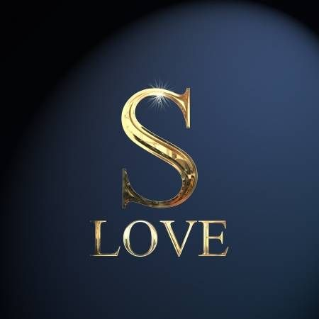 Gold Alphabet Letter S Word Love On A Blue Background S Love Images S Letter Images Lettering Alphabet