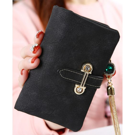 2016 fashion short matte ladies wallet vintage tassel zipper and hasp womens wallets and purses Money Bag free shipping 026-2