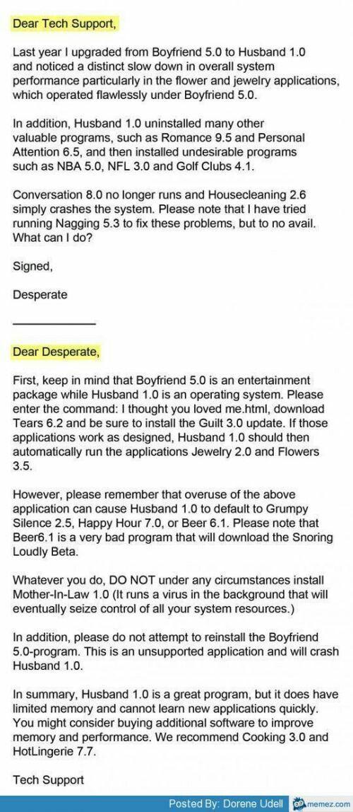 Funny Tech Support Letter  Random Funny Stuff    Tech