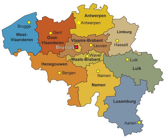 Interactieve kaart van België