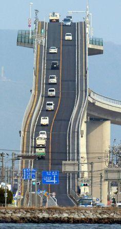 Eshima Ohashi bridge: This bridge in Japan is like something out of Mario Kart - Asia - World - The Independent