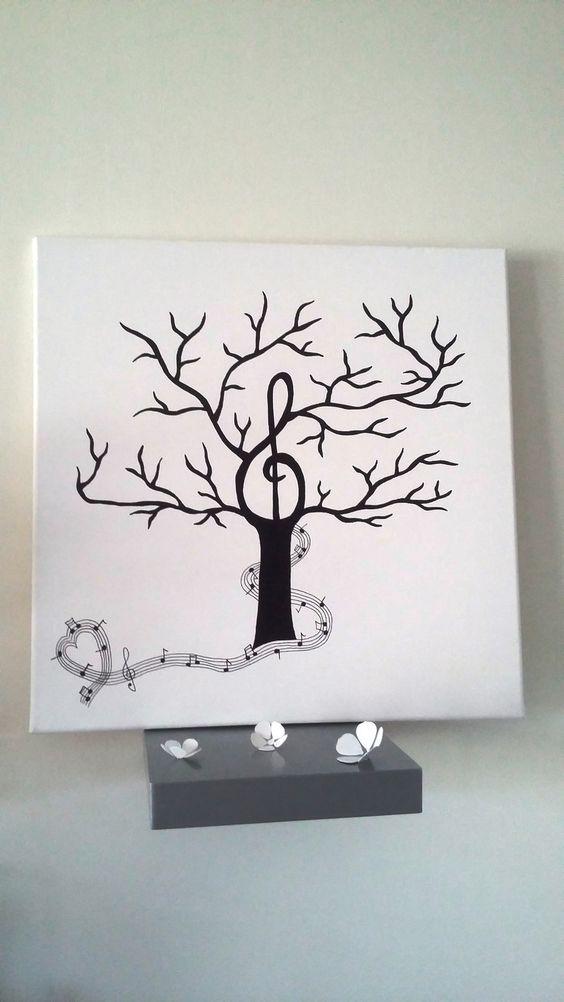 arbre empreintes th me musique la m lodie du bonheur musique d coration et bonheur. Black Bedroom Furniture Sets. Home Design Ideas