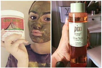 23 Products Everyone In Their Late Twenties Should Try On Their Skin - dudes. I have that Aztec mask. It's INTENSE. I mix it acv and holy potatoes. As it was drying I thought my eyebrows were being pulled into my hairline 0_0