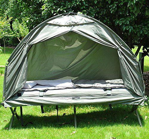 Outsunny - Tenda da Campeggio Moderno e Stabile 193 x 78 x 160cm Verde