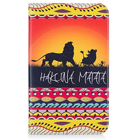 Galaxy Tab A 7.0  inch Case, LKsung Colorful Painting[Kickstand][Card Slot]Slim-Fit Folio Shockproof Protective Case Cover For Samsung Galaxy Tab A 7.0 (SM-T280 /T285) (lion king) - Brought to you by Avarsha.com