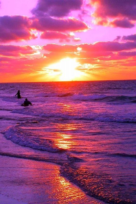 A beautiful pink and purple sunset: