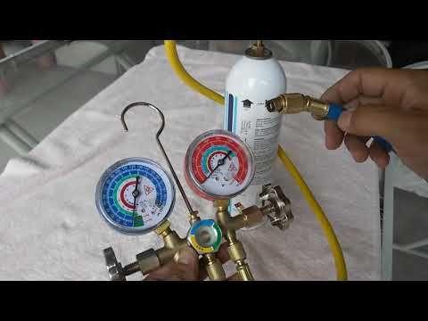 Como Conectar La Lata De Gas Refrigerante A Los Manometros Y Carga