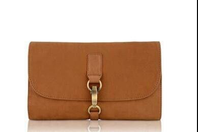 a brown clutch