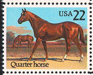 US Stamp Gallery >> Quarter horse