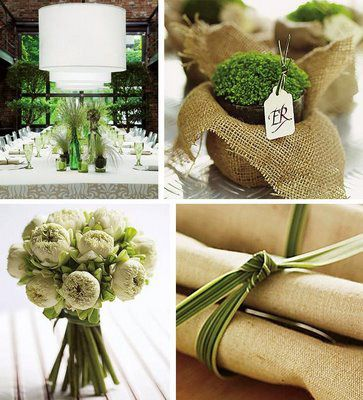 Green and Burlap