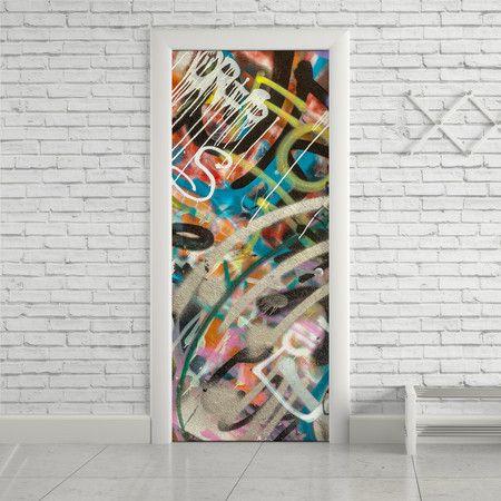 Adesivo de porta graffiti - StickDecor   Decoração Criativa