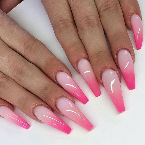 65 Best Ombre Nail Designs Ideas 2020 Guide In 2020 Pink Ombre Nails Pastel Pink Nails Coffin Nails Designs
