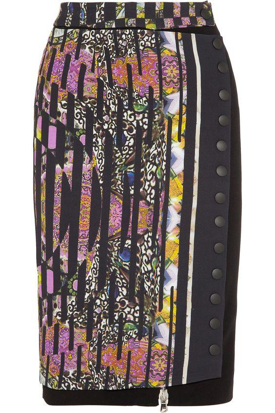 Etro|Printed crepe pencil skirt|NET-A-PORTER.COM