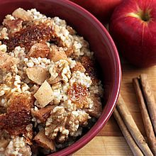 Overnight, Slow Cooker, Apple Cinnamon Steel-Cut Oatmeal. Delicious, nutritious, and ready when you wake up. TheYummyLife.com