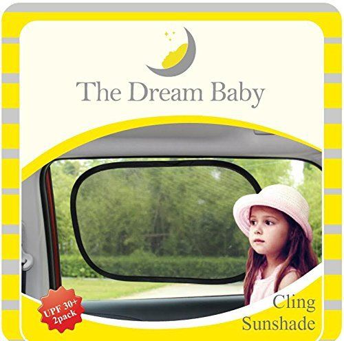 Car Sun Shade by TheDreamBaby Pack of 2 Auto Baby Static Cling Window Sunshades for Cars  Reinforced Frame  UPF30 Block Over 97 SunRays  Protect Kids from Sunburns  Heatstroke  Easy to Install *** Be sure to check out this awesome product.