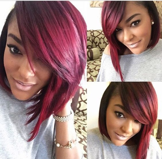 Groovy Bobs And Burgundy On Pinterest Hairstyles For Women Draintrainus