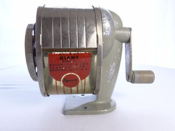 Vintage Mid Century APSCO Deluxe Giant Model 51 Pencil Sharpener - Treasury Item - PRICE REDUCED