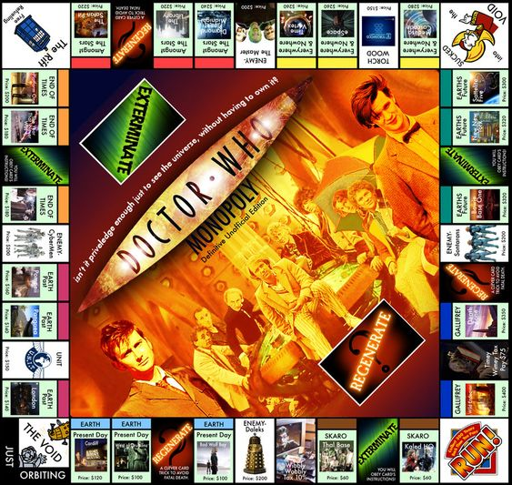 Doctor Who :: [Projet] Monopoly Doctor Who French Version