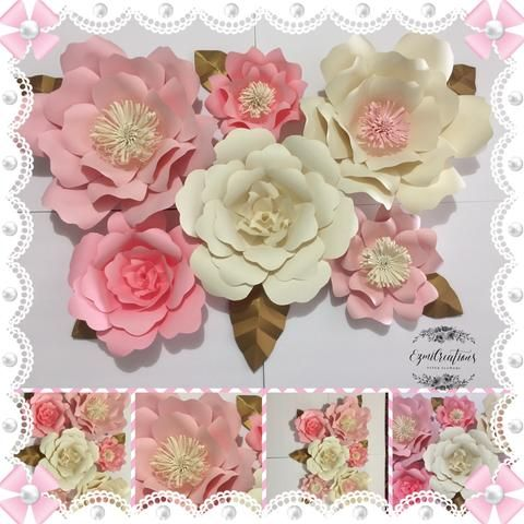 Paper Flower Diy Kit Wall Decor Custom Colors Available Paper