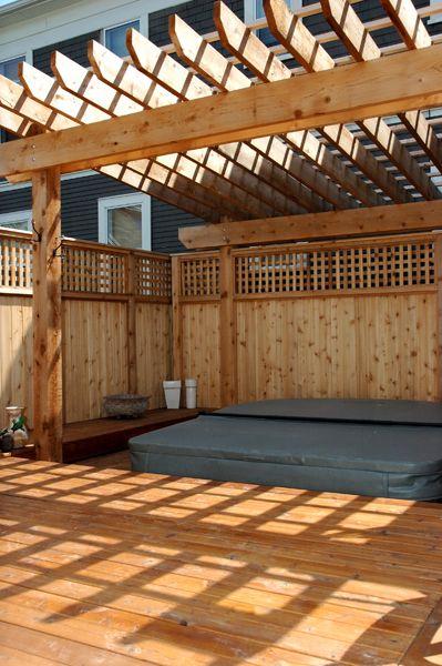 Hot Tub Deck Ideas Hammer Down